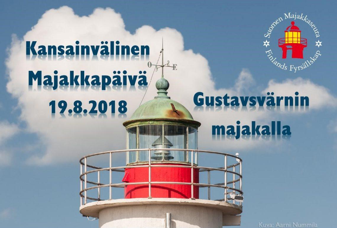 Tule Gustavsvärnille viettämään kansainvälistä majakkapäivää 19.8.2018