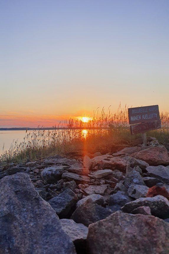 Auringonlasku Hankoniemi