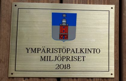 Fyrsällskapet fick Hangö stads miljöpris!