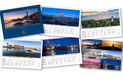 Osta Majakkasaaret 2020 -seinäkalenteri Majakkaseuran tapahtumista tai jäsenmyyjiltä