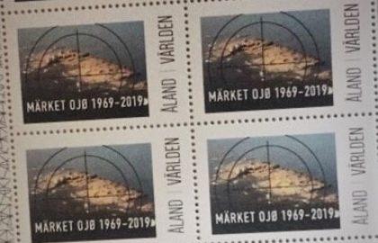 Märket-postimerkki radioamatöörien juhlavuoden kunniaksi