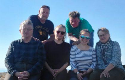 Talkooviikko 22  Outi, Eini, Ilkka, Pekka, Petra ja Reijo