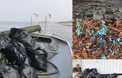 Siivoustalkoot Dödörenissä ja yöpyminen majakkasaarella 13.4.2019