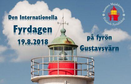 Den internationella fyrdagen firas på Gustavsvärn  Söndag den 19.8.2018