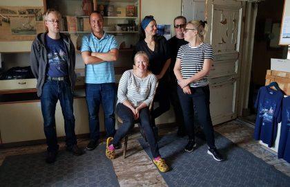 Talkooviikko 35: Mirka, Jussi, Nina, Pia, Marcus, Juha ja Ellu